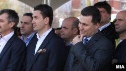 Архивска фотографија - Поранешниот градоначалник на Аеродром, Ивица Коневски и поранешниот лидер на ВМРО-ДПМНЕ, Никола Груевски.