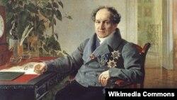 Александр Голицын, работа Карла Брюллова