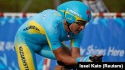 Алексей Луценко из казахстанской велокоманды Pro Team Astana.