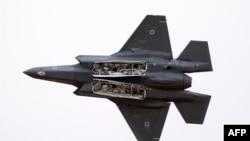 Израилдин F-35 үлгүсүндөгү аскердик учагы.