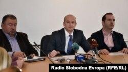 Прес-конференција на градоначалникот на Охрид Никола Бакрачески.