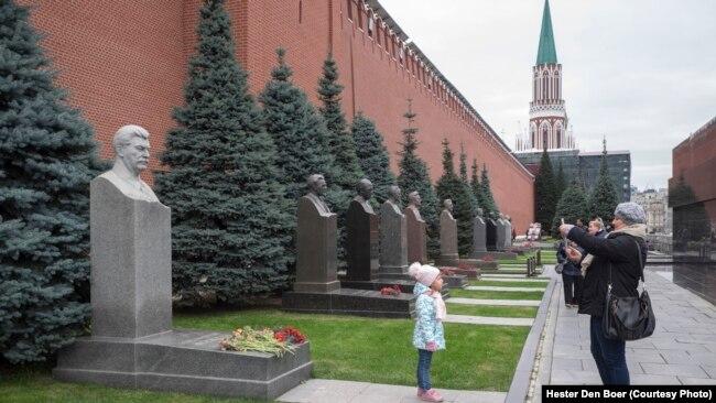 Памятник Сталину у кремлевской стены. 2017 г.