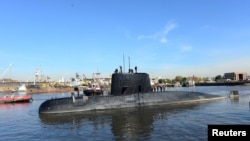 Argentina's German-made ARA San Juan submarine on November 15.