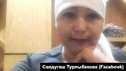 Белсенді Сандуғаш Тұрлыбекова (Сурет Facebook парақшасынан алынды).