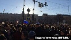 Акция памяти жертвам теракта в Петербурге