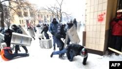 Столкновения в центре Киева 22 января 2014 года
