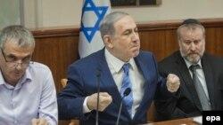 نشست هیئت دولت اسرائیل به ریاست بنیامین نتانیاهو.