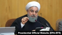 U.S. President Donald Trump has warned Iranian President Hassan Rohani (pictured) not to threaten the United States.
