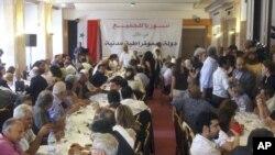 نشست مخالفان در دمشق در روز دوشنبه