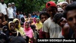 پناهجویان روهینگیا در مرز میانمار-بنگلادش. ۱۵ شهریور
