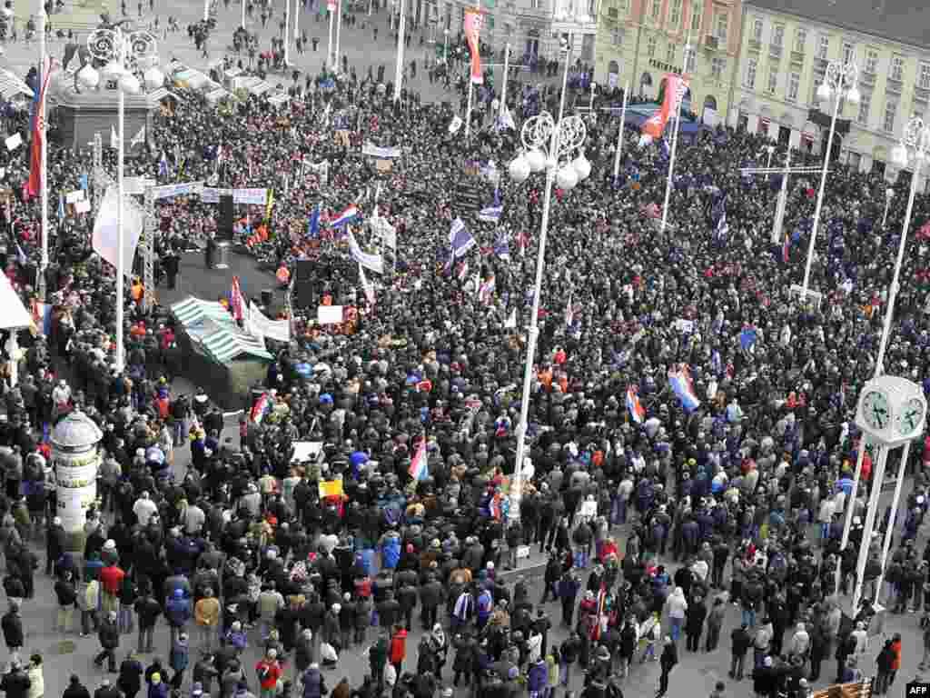 Zagreb, 26.02.2011. Foto: AFP / Hrvoje Polan