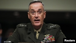 U.S. Marine Corps General Joseph Dunford at a Senate Armed Services Committee hearing in Washington on November 15