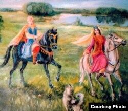 Тубылның һәвәскәр рәссамы Роза Аминованың Күчем белән Сүзге рәсеме