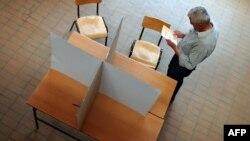 Избирательный участок в одной из деревень в 50 километрах от Белграда