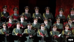 The Aleksandrov military choir is arguably one of Russia's best known musical ensembles (file photo).