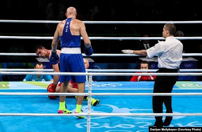 Поединок Василия Левита и Евгения Тищенко на Олимпиаде в Рио. Август 2016 года
