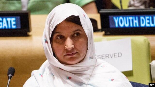 Malala's mother, Thorpekai Yousafzai