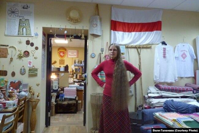 Гаспадыня «Беларускай хаты» у Іркуцку