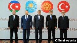 Representatives from Kyrgyzstan, Kazakhstan, Turkey, Azerbaijan, and Turkmenistan met in Bishkek, Kyrgyzstan, in August 2012.