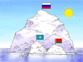 """""""Аптап астындағы үш айсберг"""". Сәбиттің карикатурасы"""