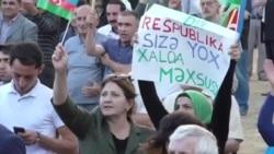 Müsavatın mitinqi: 'Ölkədə problemlərin səbəbkarı Əliyev rejimidi'