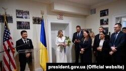 Президент Украины Владимир Зеленский на открытии Украинского Дома в Вашингтоне, 1 сентября 2021 года