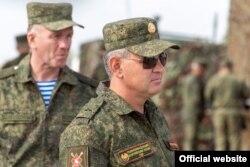 Лидер Приднестровья Вадим Красносельский на военных маневрах, 2 октября 2020 года