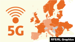 """5G технологиясына негизделген """"Таза тармак"""" демилгесин Батыш Европада кызуу колдошууда. Балкан жарым аралында Босния-Герцеговина менен Черногория гана бул багытта артта калып келет. 2020-жылдын ноябры."""