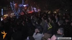 Акция протеста перед президентском дворцом в Ереване