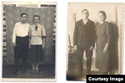 Vasile și Maria Ghieș s-au întâlnit și s-au căsătorit în Siberia. Fotografii din 1948 și 1950