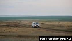 Дорога, ведущая в село Калачи. Акмолинская область, 27 июля 2020 года.
