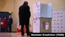 Ռուսաստան - Պետդումայի ընտրությունները Մոսկվայի ընտրատեղամասերից մեկում, 19-ը սեպտեմբերի, 2021թ.