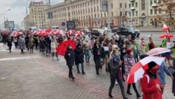 Several Detained Amid Women's Protest March In Belarus