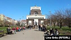 Catedrala catolică din piața Jiriho z Podebrad, 4 aprilie 2021