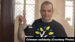 Владислав Есипенко на суде в Крыму, 15 июля 2021 года