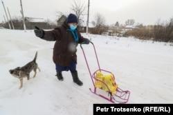 Нина Ивановна, жительница села Долматово. Северо-Казахстанская область, 21 декабря 2020 года.