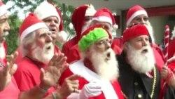 Braziliyanın Santa-Klaus məktəbinin məzunları bayrama hazırdırlar