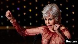 """Джейн Фонда на 92-рата церемония по раздаването на наградите """"Оскар"""" през 2020 г."""