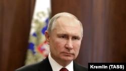 Президент Росії Володимир Путін. Москва, 23 лютого 2021 року