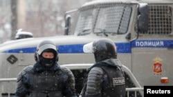 Полиција на протестите во Москва. 31 јануари 2021.