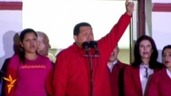 Chavez Celebrates Re-election Victory