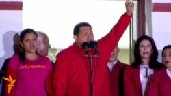 Чавез қайта сайланганини нишонламоқда