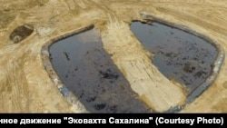 Нефтехранилище в Ногликском районе Сахалина