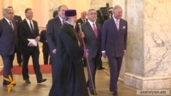 Prince Charles Greeted By Protesters In Armenia