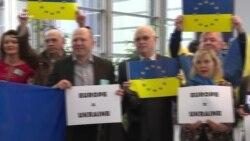 Ніхто не забув ні про Майдан, ні про нав'язану Україні Росією гібридну війну – флешмоб у Європарламенті (відео)