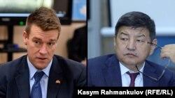 Президент и главный исполнительный директор Centerra Gold Inc. Скотт Перри и министр экономики и финансов Кыргызстана Акылбек Жапаров.