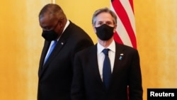 د امریکا د بهرنیو چارو وزیر انتوني بلېنکن او د امریکا دفاع وزیر لوید استین