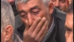 Похороны совершившего самосожжение инвалида Карабахской войны Заура Гасанова