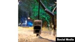 Ящик на столбе, который сфотографировал Дмитрий Маракасов