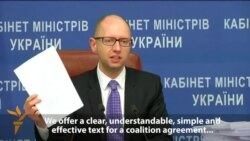 Yatsenyuk Suggests He'll Stay On As Ukrainian Prime Minister
